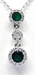 Ladies Emerald and Diamond Pendant