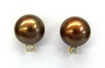 Ladies Diamond and Pearl Earrings