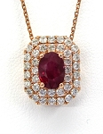 Ladies Ruby and Diamond Pendant