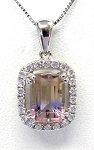 Ladies Ametrine and Diamond Pendant