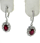 Ladies Diamond and Ruby Earrings