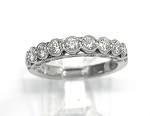 Ladies Diamond Wedding Band