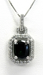 Ladies Green Tourmaline and Diamond Pendant