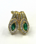 Ladies Diamond and Emerald Earrings
