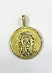Yellow Gold Jesus Medal Pendant