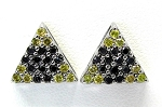 Ladies Black and Yellow Diamond Earrings
