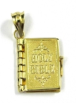 Yellow Gold Holy Bible Pendant