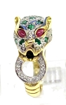 Ladies Ruby Emerald and Diamond Ring