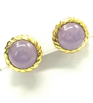 Ladies Purple Jade Earrings