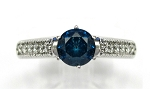 Ladies Blue Diamond Engagement Ring