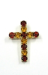 Yellow Gold Gemstone Cross Pendant