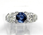 Ladies Sapphire and Diamond Ring