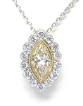 Ladies Yellow Diamond Pendant