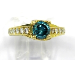 Ladies Blue Diamond Ring