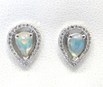 Ladies Diamond and Opal Earrings
