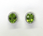 Ladies Diamond and Peridot Earrings