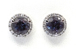 Ladies Diamond and Alexandrite Earrings