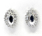 Ladies Diamond and Sapphire Earrings