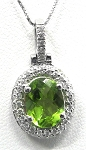 Ladies Peridot and Diamond Pendant