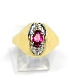 Ladies Ruby and Diamond Ring