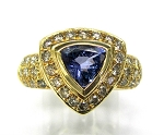 Ladies Diamond and Tanzanite Ring