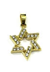Yellow Gold Diamond Star Of David Pendant