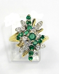 Ladies Emerald and Diamond Ring