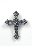 Sterling Silver Iolite Cross Pendant