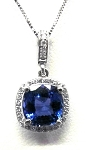 Ladies Tanzanite And Diamond Pendant