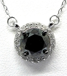 Ladies Black Diamond Pendant