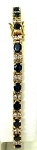 Ladies Gold Diamond Gemstone Bracelet