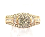 Ladies Champagne Diamond Ring