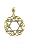 Yellow and White Gold Star Of David Pendant