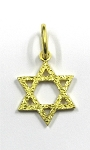 Yellow Gold Star Of David Pendant