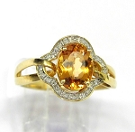 Ladies Topaz and Diamond Ring