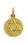 Yellow Gold Menorah & Star of David Pendant