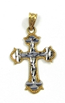 White and Rose Gold Cross Pendant