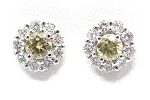 Ladies Yellow Diamond Earrings