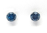 Ladies Blue Diamond Earrings