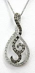 Ladies Cognac Diamond Pendant