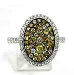 Ladies Multi Colored Diamond Ring