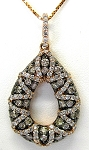 Ladies Brown Diamond Pendant