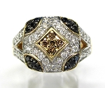 Ladies Brown and Black Diamond Ring