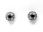 Ladies Black Diamond Earrings