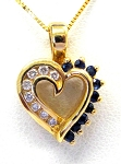 Ladies Sapphire and Diamond Pendant