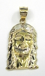 White and Yellow Gold Jesus Pendant