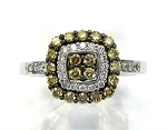 Ladies Brown Diamond Ring
