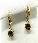 Ladies Garnet Earrings