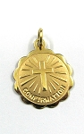 Yellow Gold Confirmation Medal Pendant