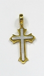 Sterling Silver Vermeil Cross Pendant